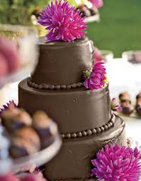 chocolate wedding cake picture