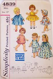 dolls clothing patterns