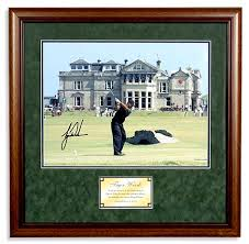 tiger woods signed picture
