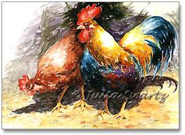 rooster and hen pictures