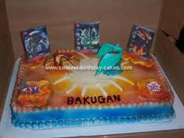 bakugan birthday cakes