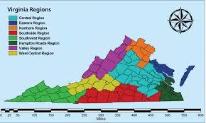 map of virginia regions