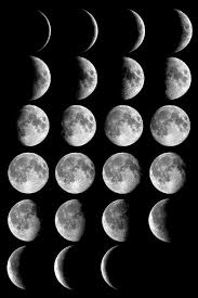 five phases of the moon