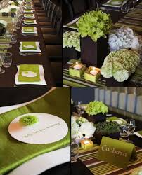 green and brown decor