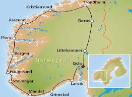 norvegijos zemelapis