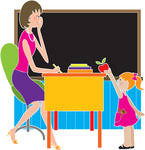 teacher and student clip art
