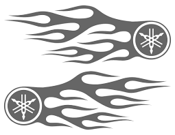motorcycle flame stickers