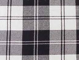 black and white tartan