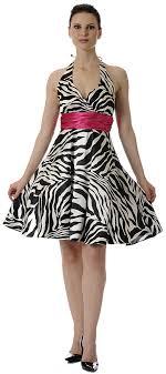 animal print party dress