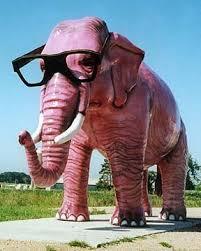 big pink elephant