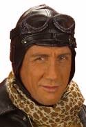 leather pilots hat