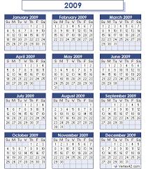 2009 calendar pictures