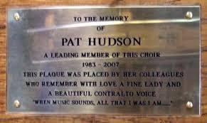 in memory of plaque