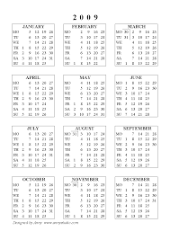 free 2009 annual calendar