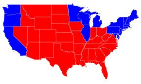 red blue america