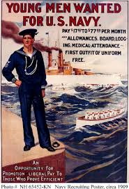navy recruitment poster