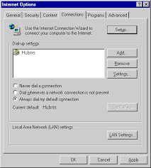 internet options connections