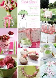 pink green wedding