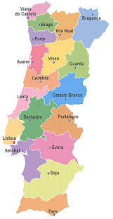 mapa de portugal continental