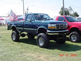 big jacked up truck