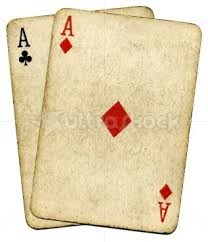 old playing card
