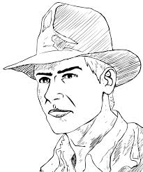 indiana jones colouring