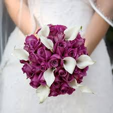 purple bridal flowers