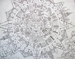 mayan calendar art
