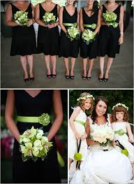black bridesmaids gowns