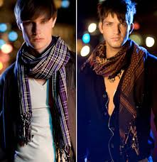 how to wear a men scarf