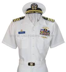 navy white uniform