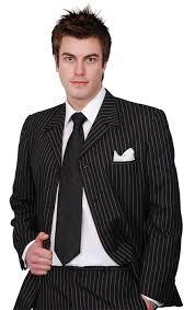 black pinstripe tuxedo