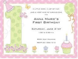 1st birthday wordings