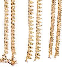 indian gold anklets
