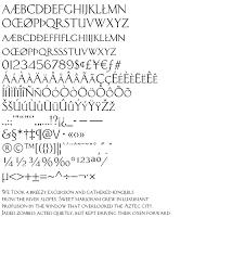 ancient roman fonts