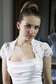 bridal lace shrug