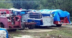 blue firetruck