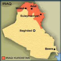 kurdistan iraq map