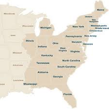 map of eastern usa