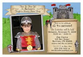 medieval birthday invitations