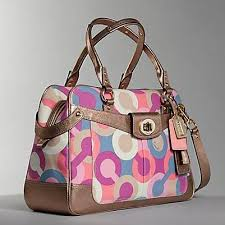 coach multicolor handbag
