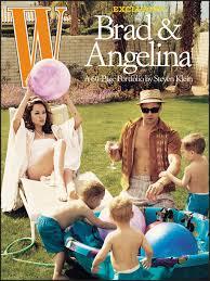 angelina jolie and brad pitt w magazine