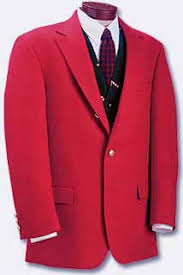 red sports jacket