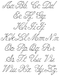 english script letters