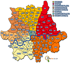 london areas map