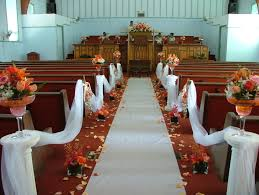 aisle wedding