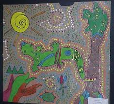 aboriginal bark art