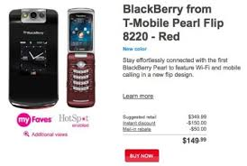 blackberry pearl flip 8220 red from t mobile