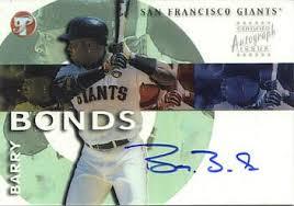barry bonds autograph
