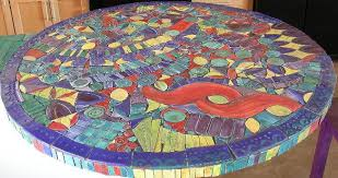 mosaic kitchen tables